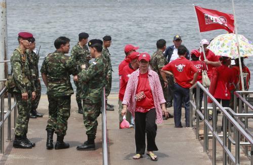 Policie hlídá stoupence bývalého thajského premiéra