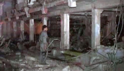 Následky pumového útoku