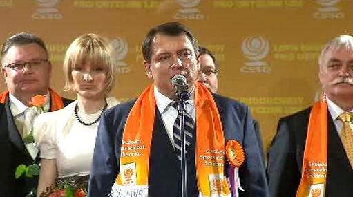 Jiří Paroubek na tiskové konferenci
