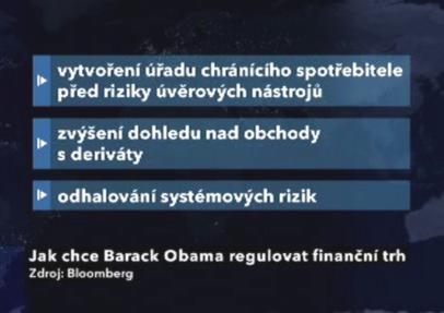Hlavní pilíře Obamovy regulace trhu