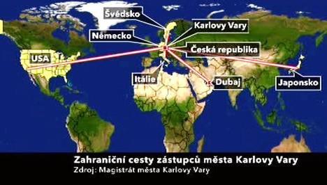 Zahraniční cesty zástupců města Karlovy Vary