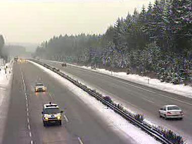 Sníh na dálnici
