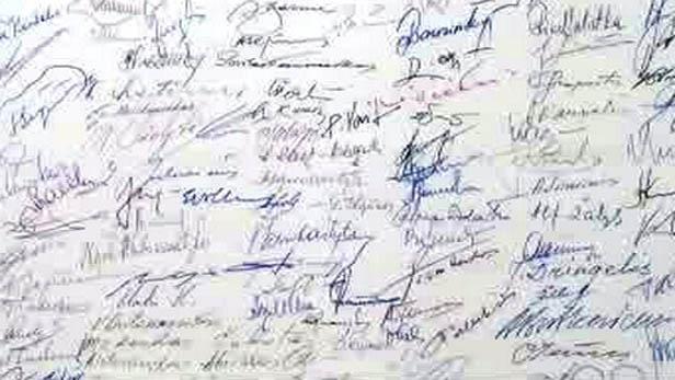 Podpisy pod deklarací o litevské nezávislosti