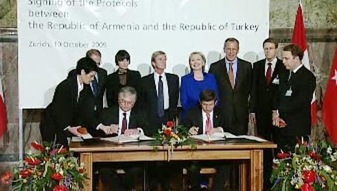 Slavnostní podpis turecko-arménské dohody