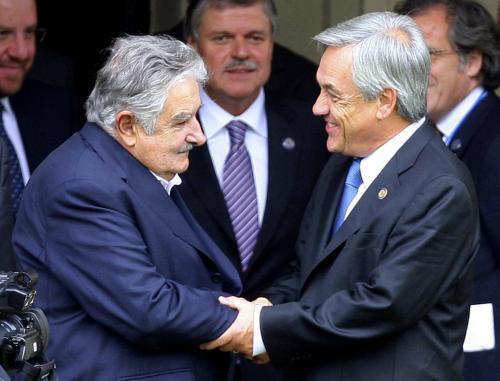 José Mujica a Sebastián Piñera