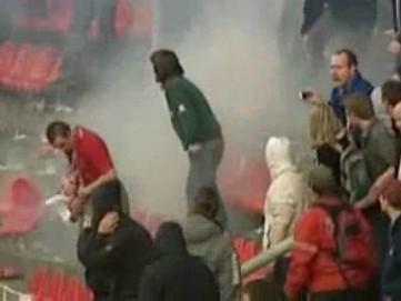 Násilí na fotbalovém stadionu
