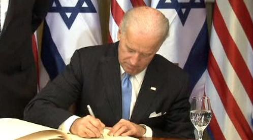 Joe Biden na návštěvě Izraele