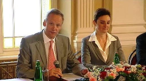 Cyril Svoboda a Jana Hybášková