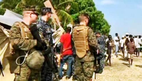 Američtí vojáci na Haiti