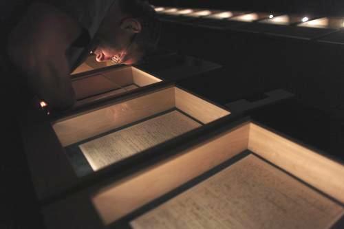 Rukopis teorie relativity vystavený v Jeruzalémě
