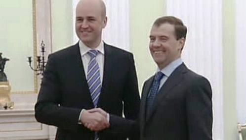 Dmitrij Medveděv a Fredrik Reinfeldt