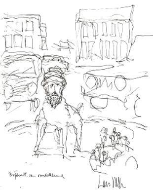 Kresba proroka Mohameda se psím tělem