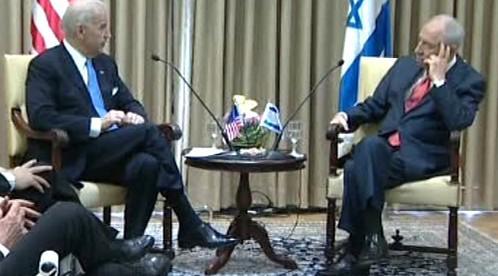 Joe Biden a Šimon Peres