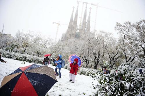 Sníh v Barceloně