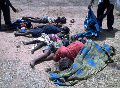 Oběť násilí v Nigérii
