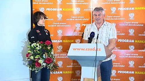 Martina Sáblíková a Petr Novák