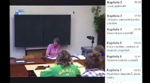 Záběry z vyučování