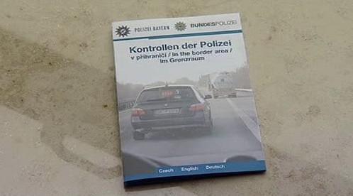 Informační leták bavorské policie