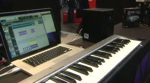 Hudební výuka přes notebook