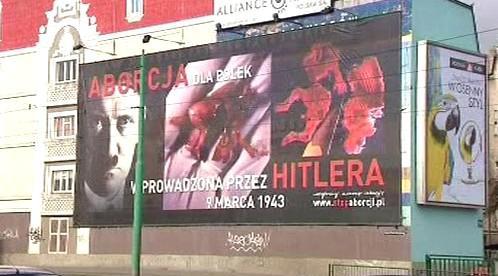 Plakát polských odpůrců potratů