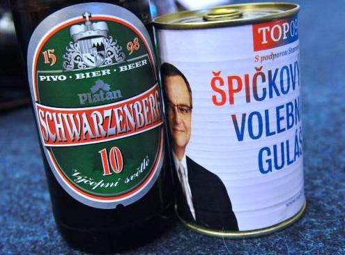 Pivo Schwarzenberg a guláš s Kalouskem