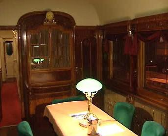 Interiér Masarykova salonního vozu