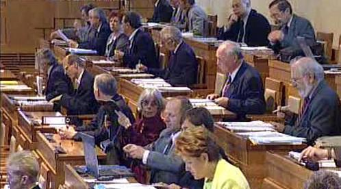 Senát při zasedání
