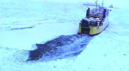 Zamrzlé lodě na Baltu