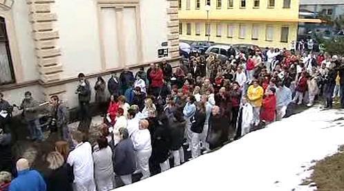Protest karlovarských zdravotníků