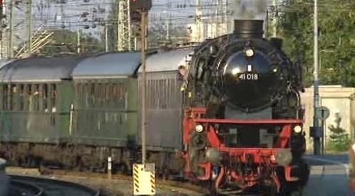 Německá parní lokomotiva