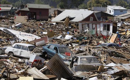 Chile zdevastované zemětřesením