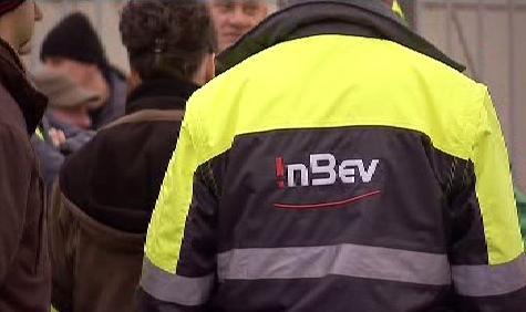 Zaměstnanci pivovaru InBev