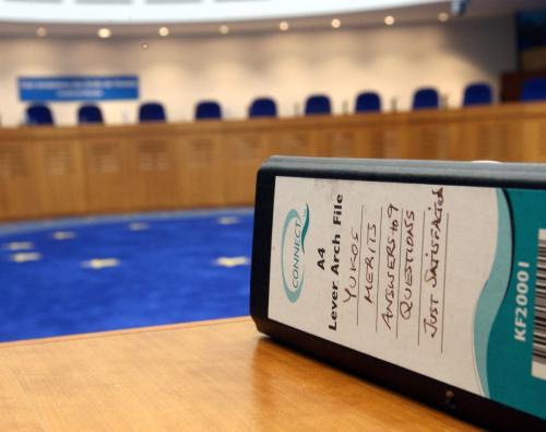 Kauza Jukos u štrasburského soudu