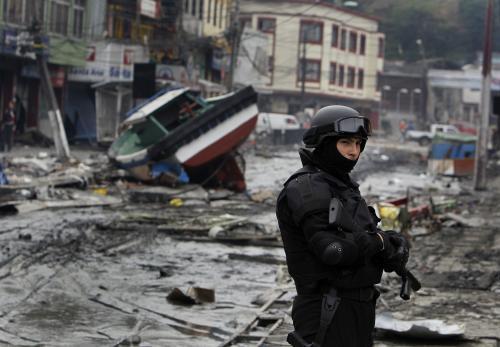 Armáda hlídá v Chile metropoli