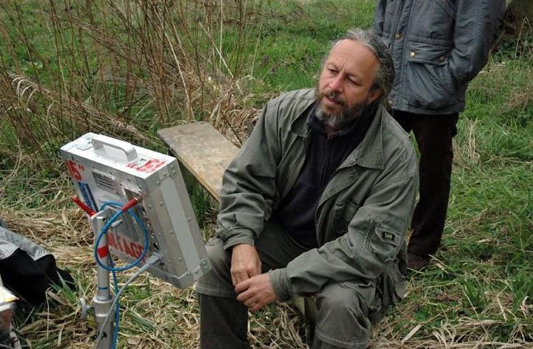 Pavel Dražan při natáčení filmu Jarmareční bouda