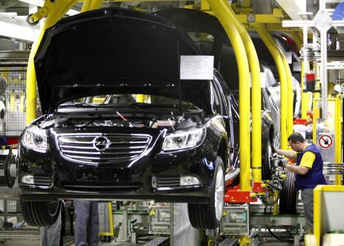 Výroba nových vozů Opel