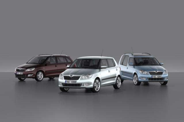 Faceliftované vozy Škoda