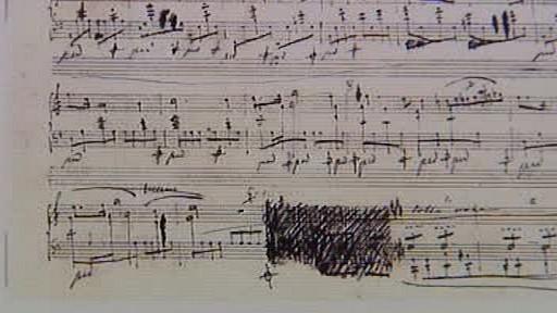 Notový záznam z pera F. Chopina