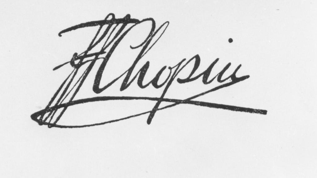 Podpis Fryderyka Chopina