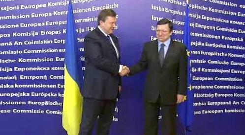 Viktor Janukovyč a José Barroso