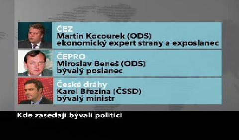 Příklady politiků v dozorčích radách státních firem
