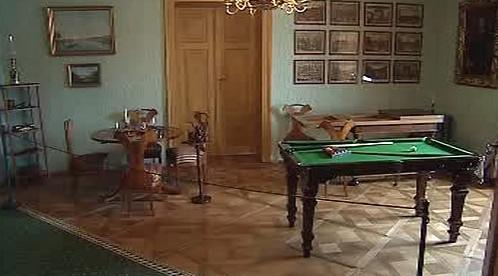 Interiér pokoje na zámku Rožmberk
