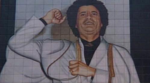 Obraz Muammara Kaddáfího