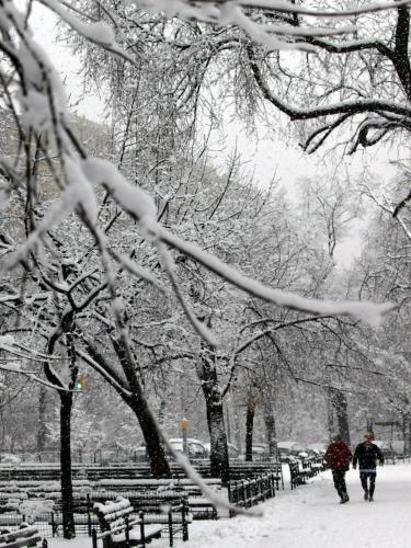 Sněhová nadílka v New Yorku