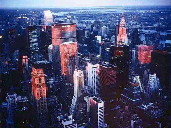 Manhattan z ochozu Empire State Building