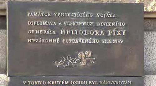 Pamětní deska Heliodora Píky