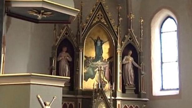 Oltář v čihošťském kostele