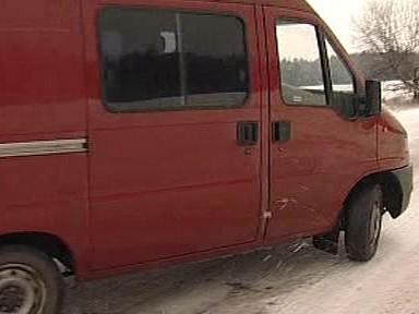 Auto na ledovce