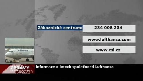Informace o letech Lufthansy