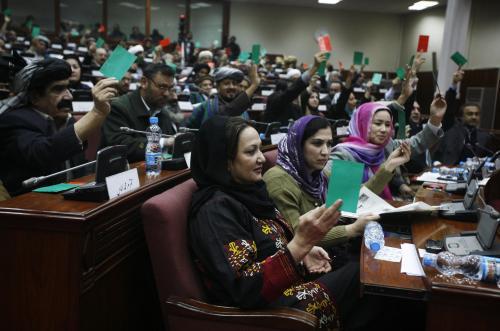 Hlasování o novém afghánském kabinetu